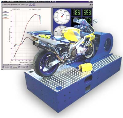 Motorcycle chassis dynamometer